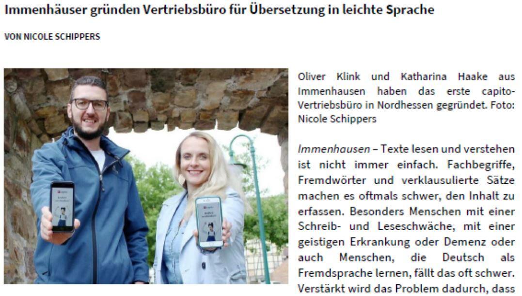 Katharina und Oliver von capito Nordhessen zeigen die capito App