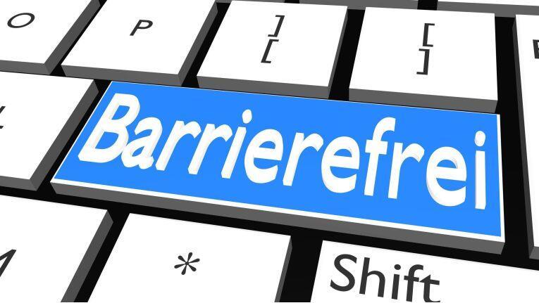 Bild einer Tastatur mit der Schrift Barrierefrei