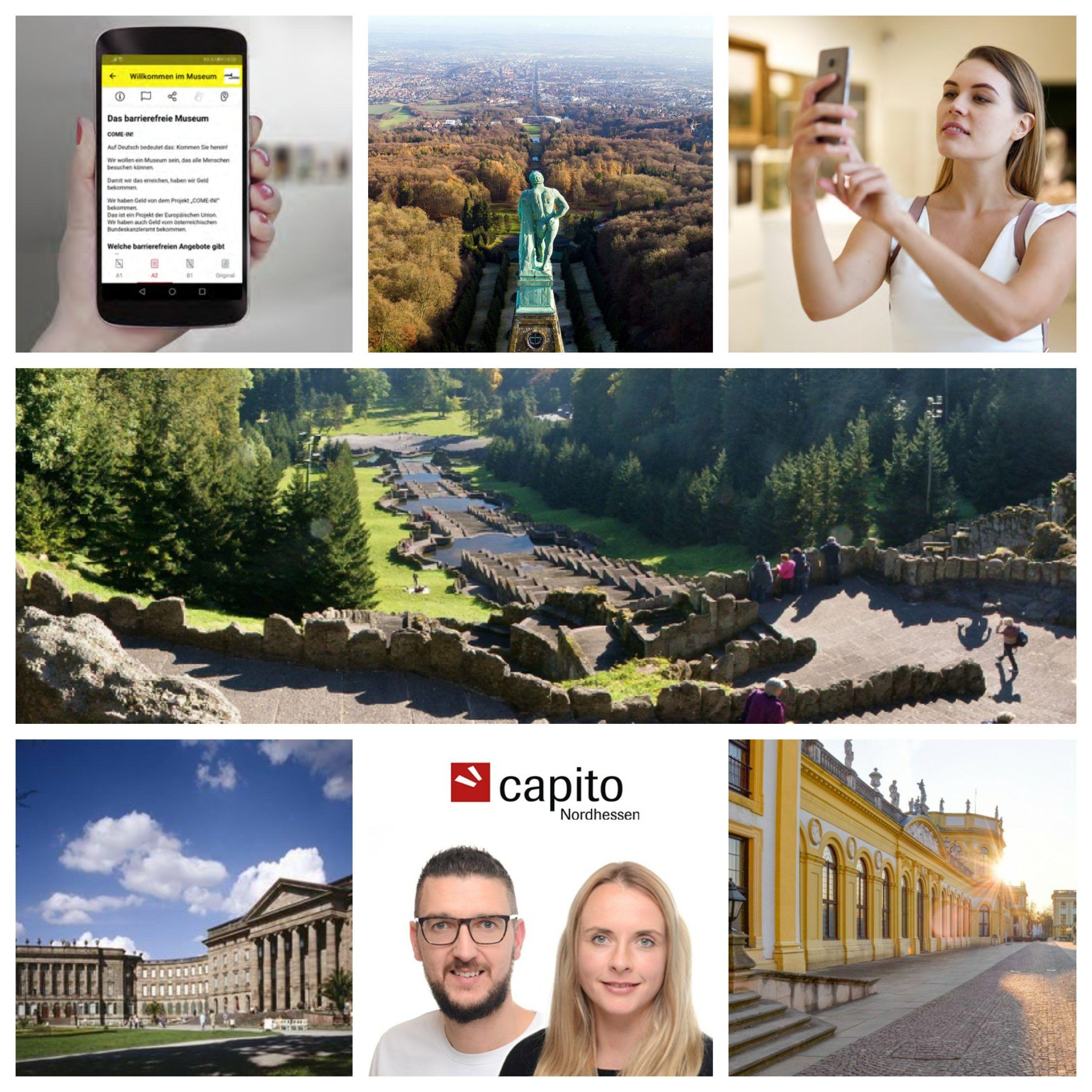 Foto Collage für den Beitrag der capito App als Audioguide