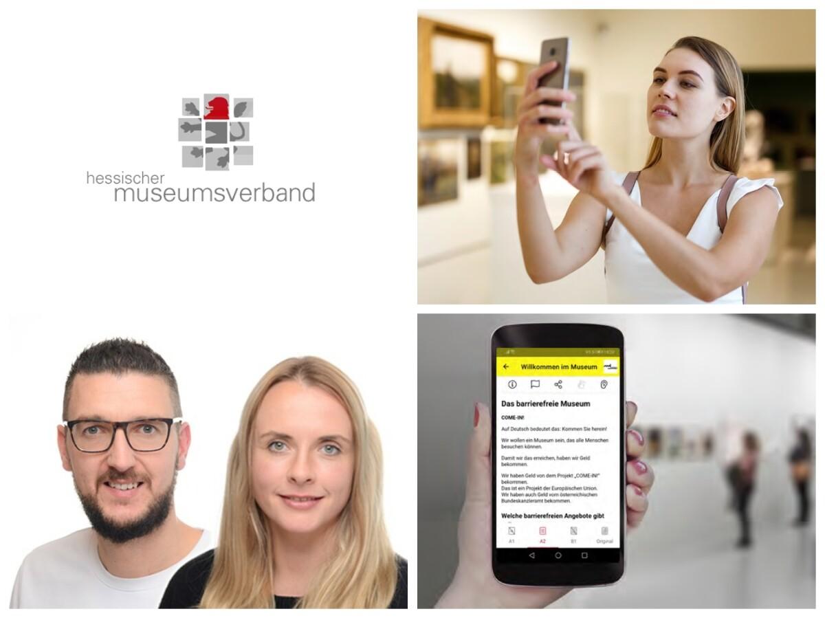 Foto Collage für den Beitrag Online Meeting mit dem Hessischer Museumsverband