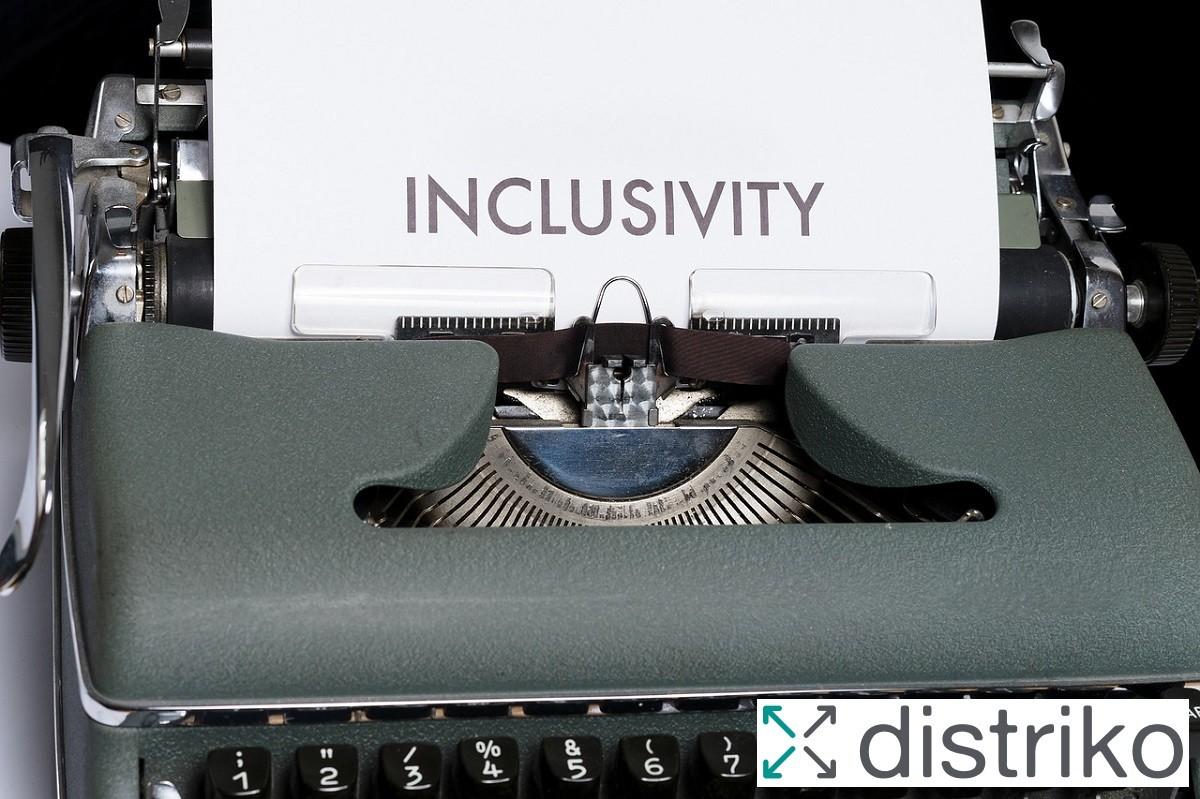 Foto für den Beitrag Inklusion als Wettbewerbsvorteil mit distriko Logo