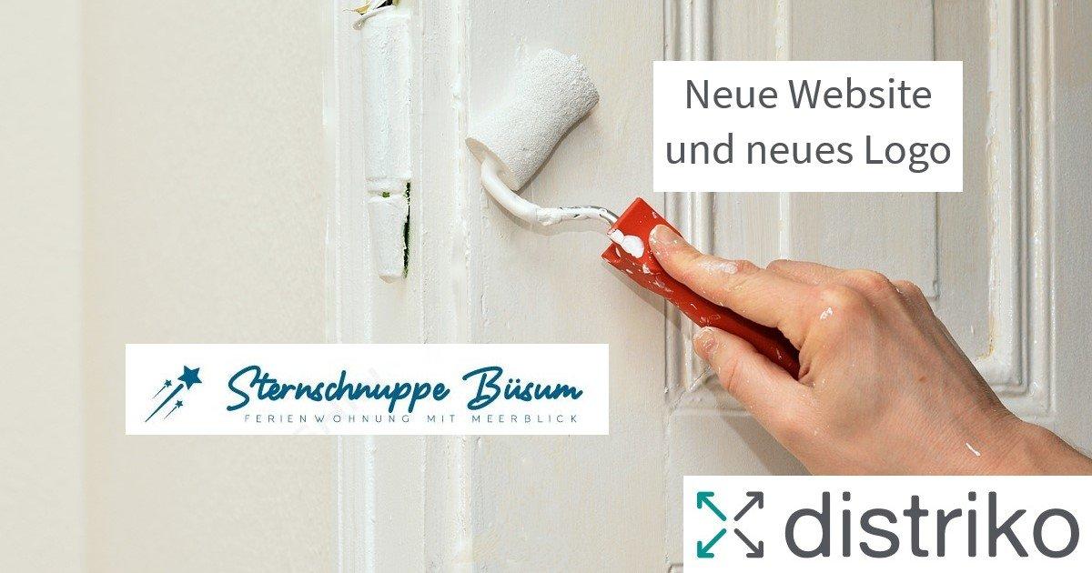 Relaunch-Neues Logo und neue Website für Ferienwohnung Sternschnuppe Büsum durch distriko